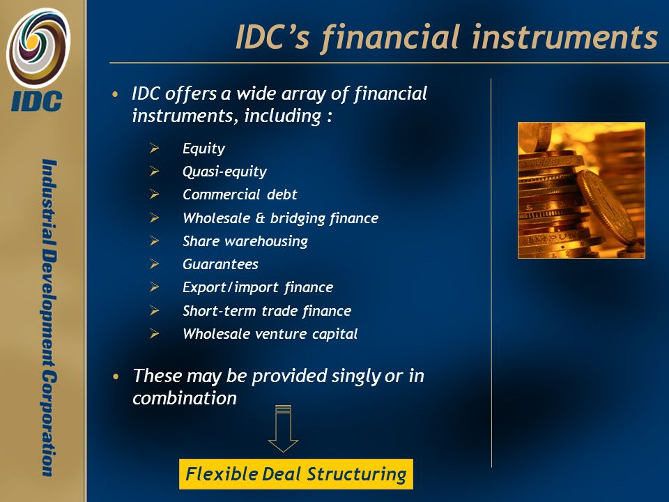 IDC's financial instruments