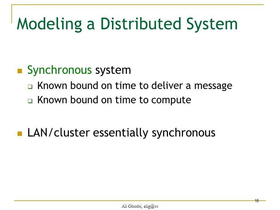 Modeling a Distributed System