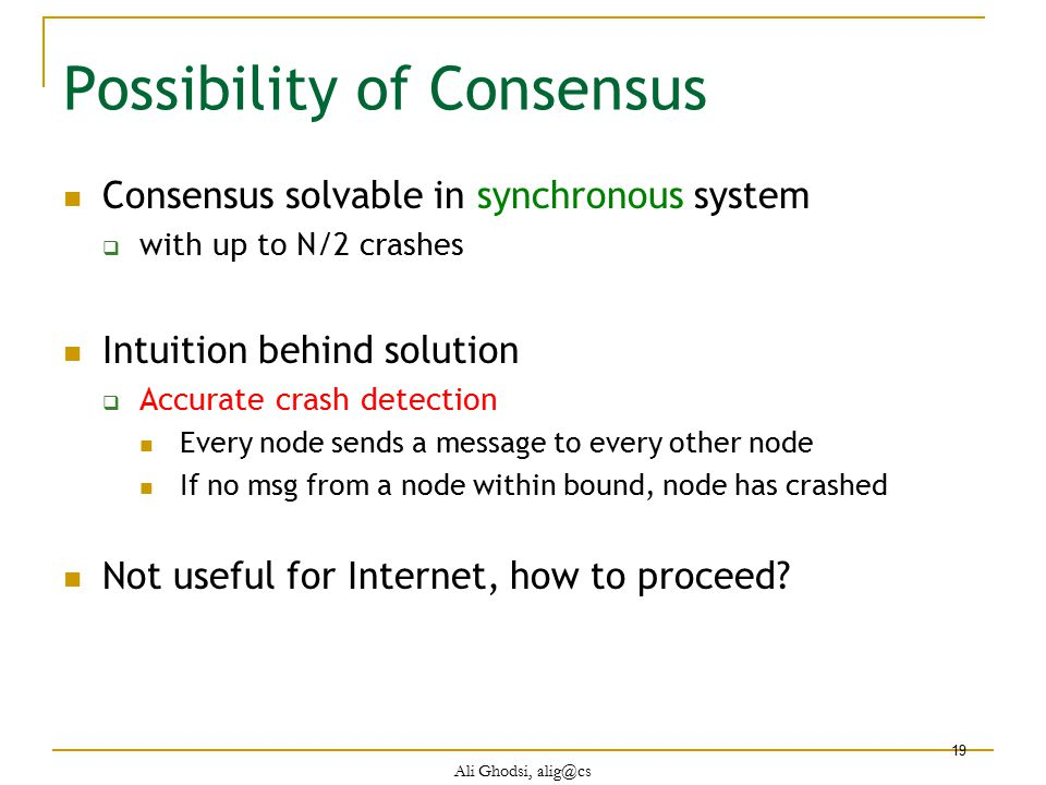 Possibility of Consensus