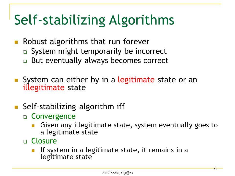Self-stabilizing Algorithms