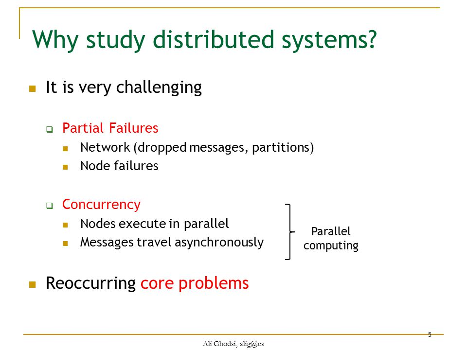 Why study distributed systems