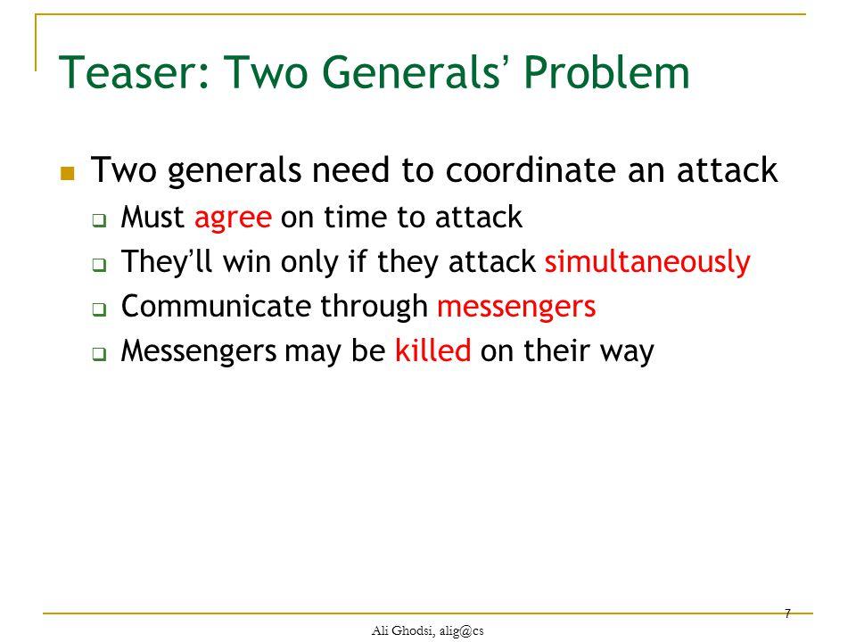 Teaser: Two Generals' Problem