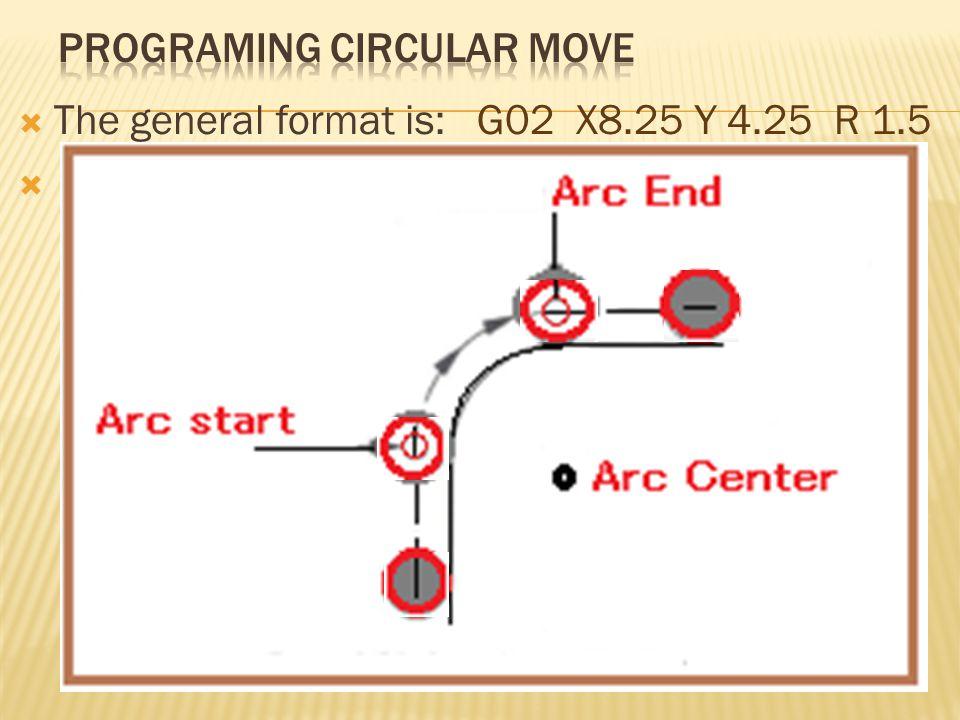 Programing Circular move
