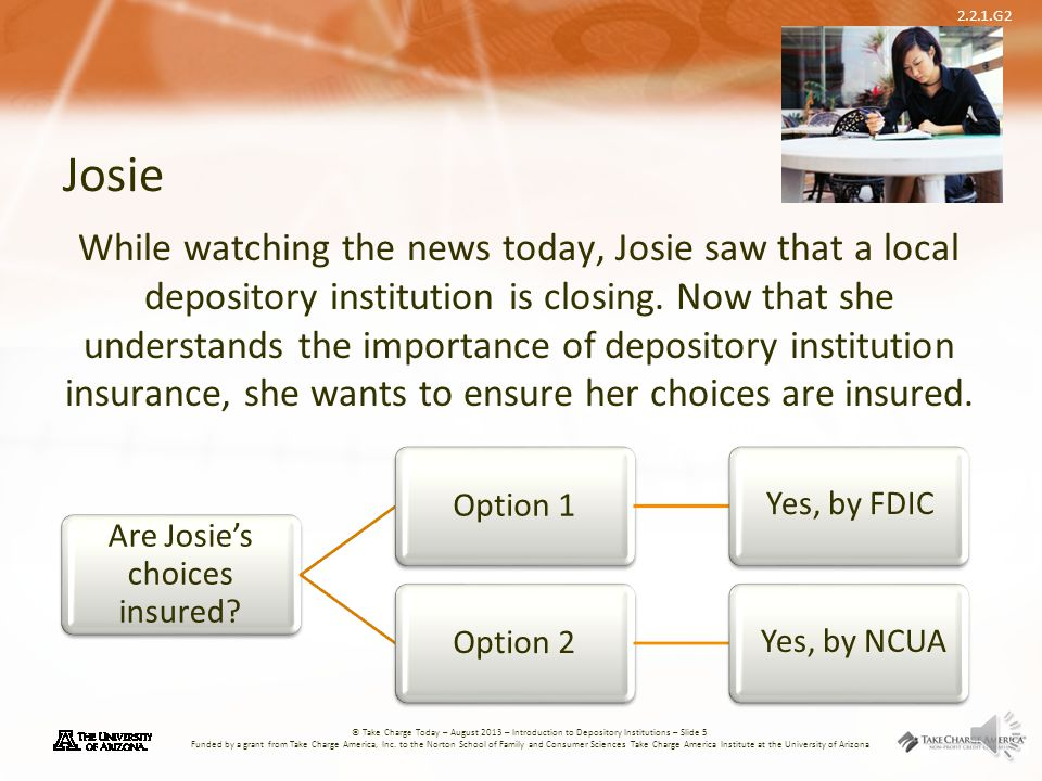 Are Josie's choices insured