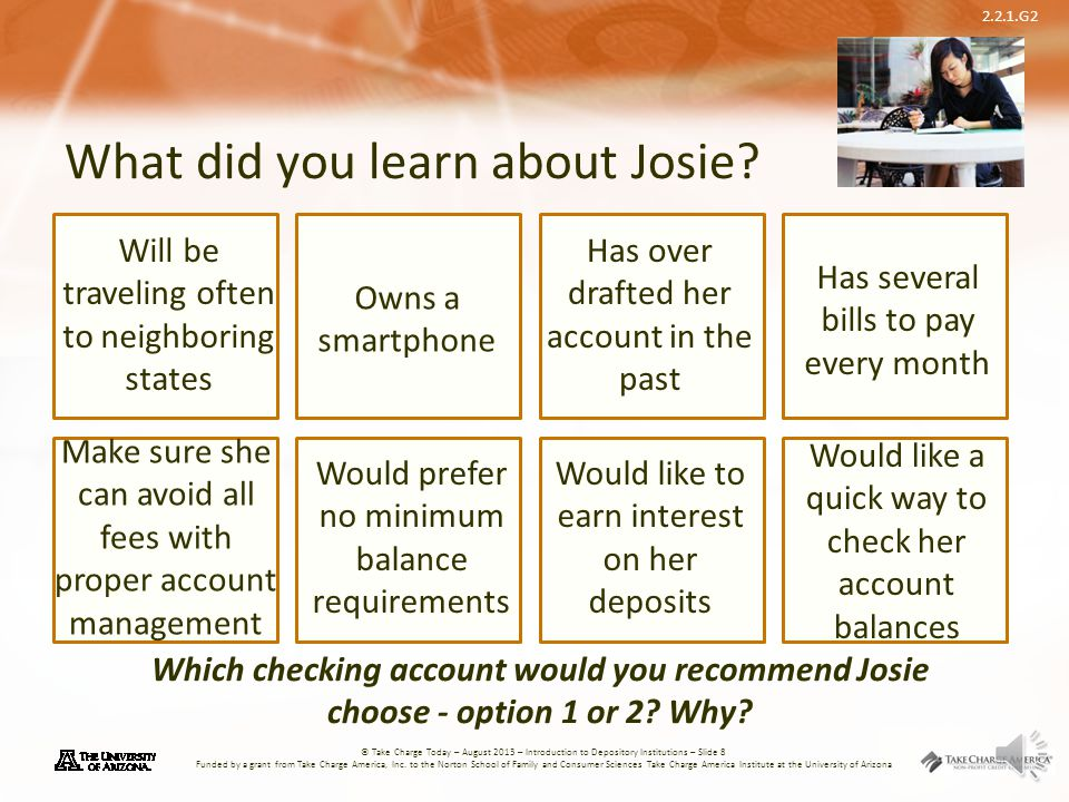 What did you learn about Josie