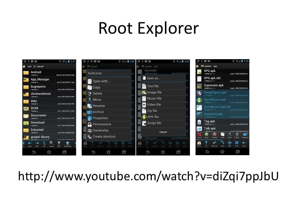 Root Explorer http://www.youtube.com/watch v=diZqi7ppJbU