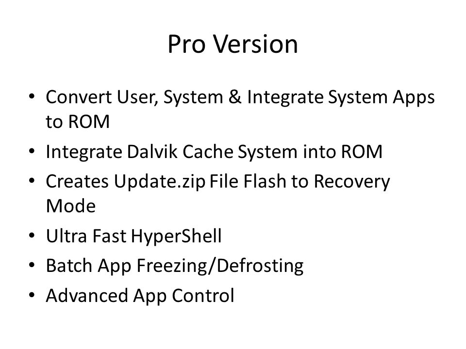 Pro Version Convert User, System & Integrate System Apps to ROM