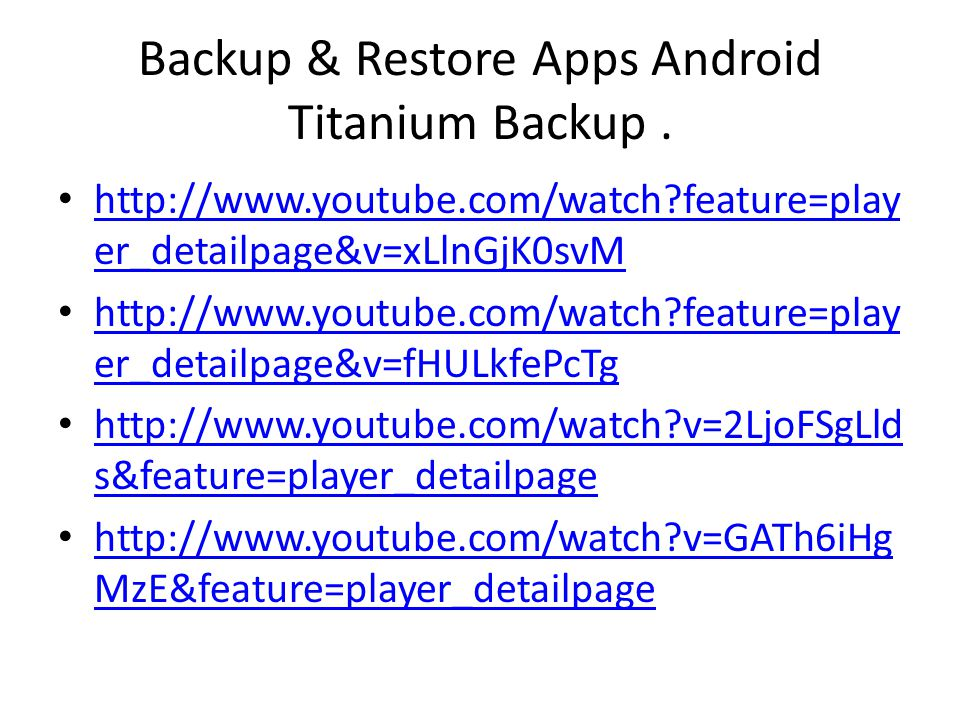 Backup & Restore Apps Android Titanium Backup .