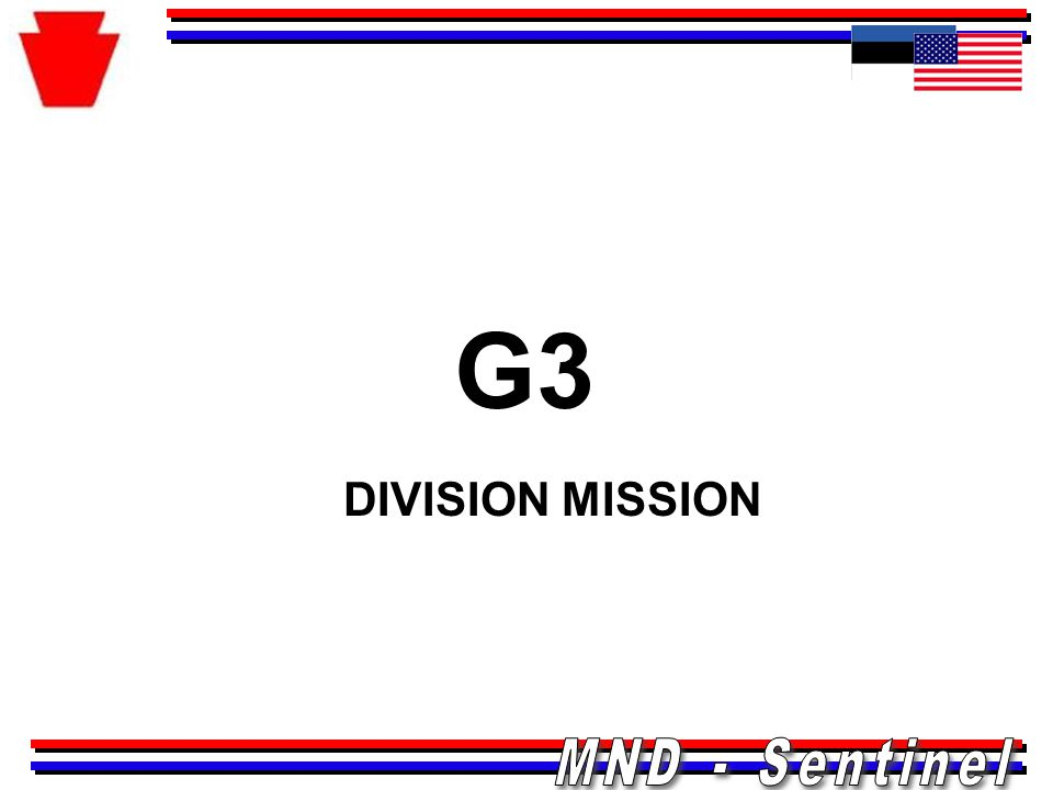 G3 DIVISION MISSION