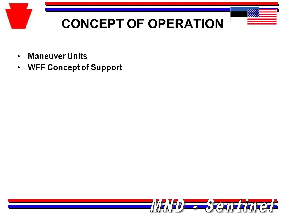 CONCEPT OF OPERATION Maneuver Units WFF Concept of Support