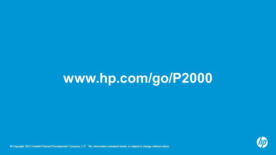 www.hp.com/go/P2000