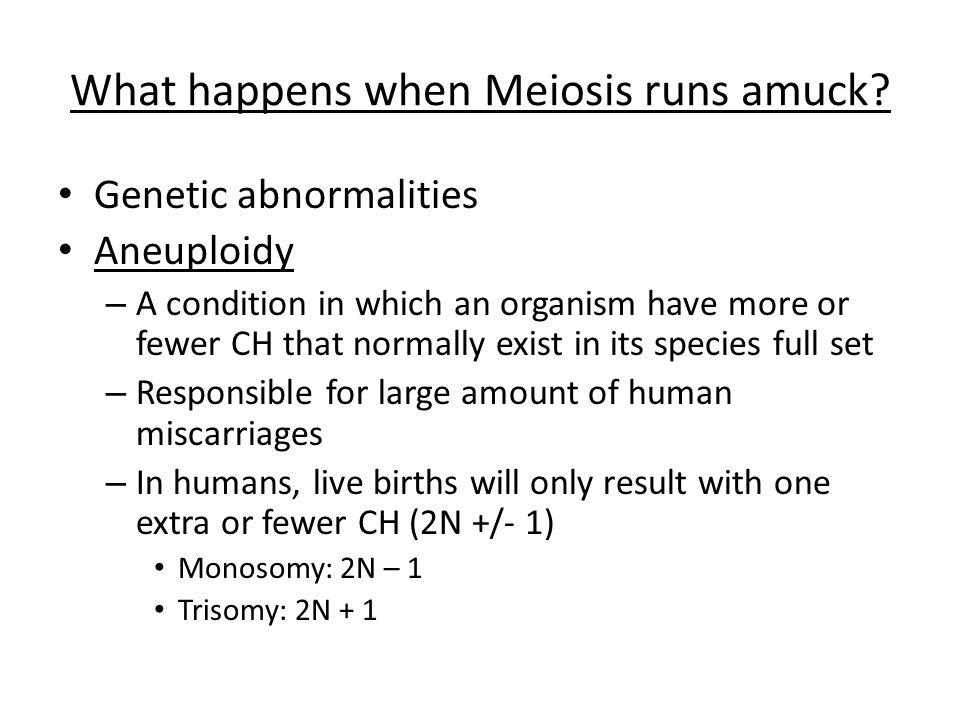 What happens when Meiosis runs amuck