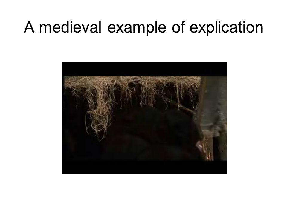 A medieval example of explication