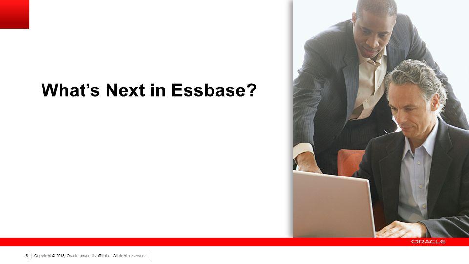 What's Next in Essbase