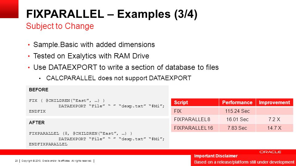 FIXPARALLEL – Examples (3/4)