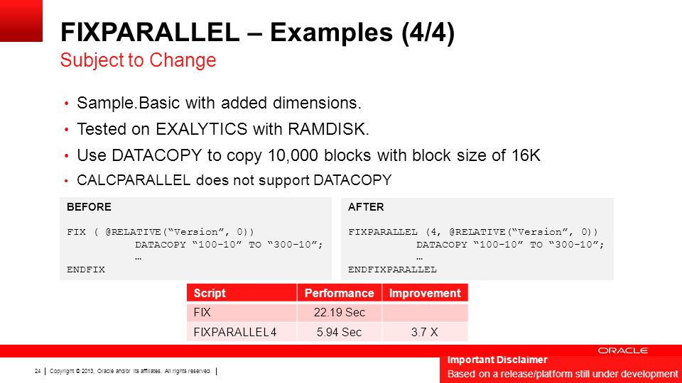 FIXPARALLEL – Examples (4/4)