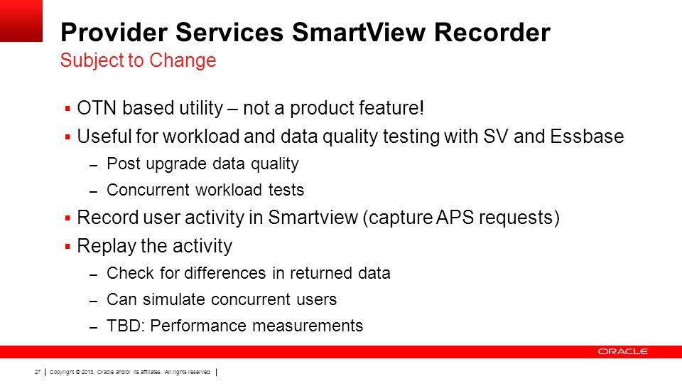 Provider Services SmartView Recorder