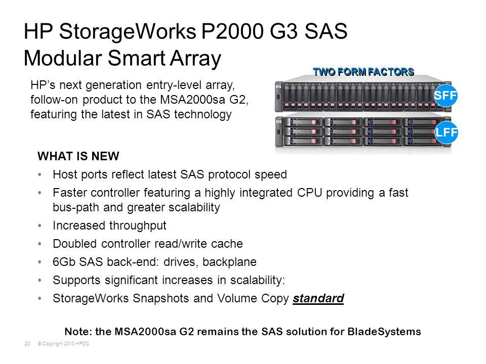 HP StorageWorks P2000 G3 SAS Modular Smart Array