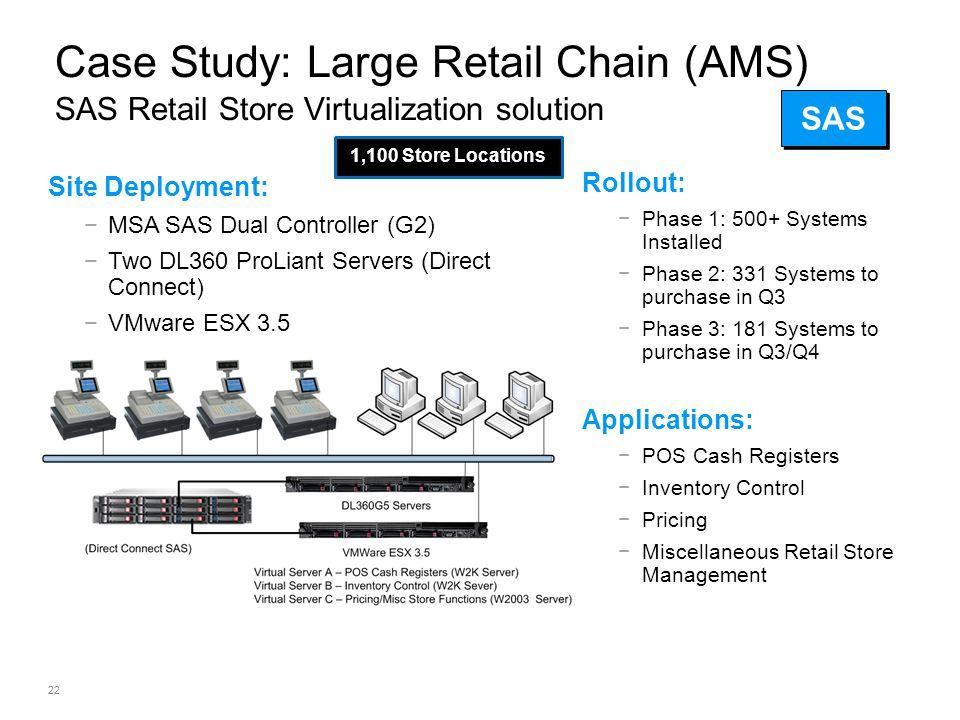 Case Study: Large Retail Chain (AMS) SAS Retail Store Virtualization solution