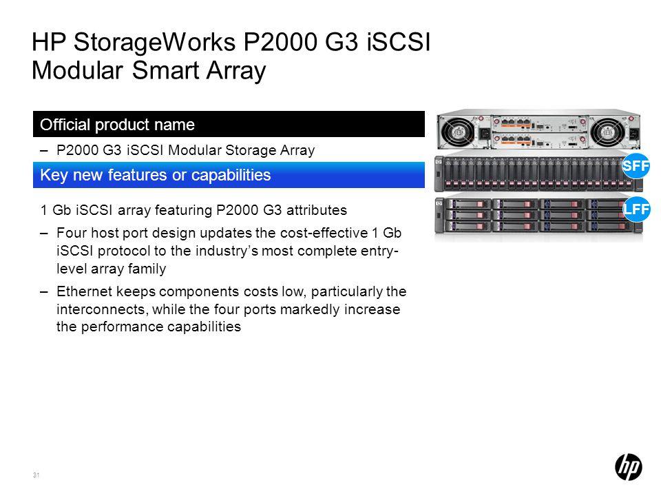 HP StorageWorks P2000 G3 iSCSI Modular Smart Array