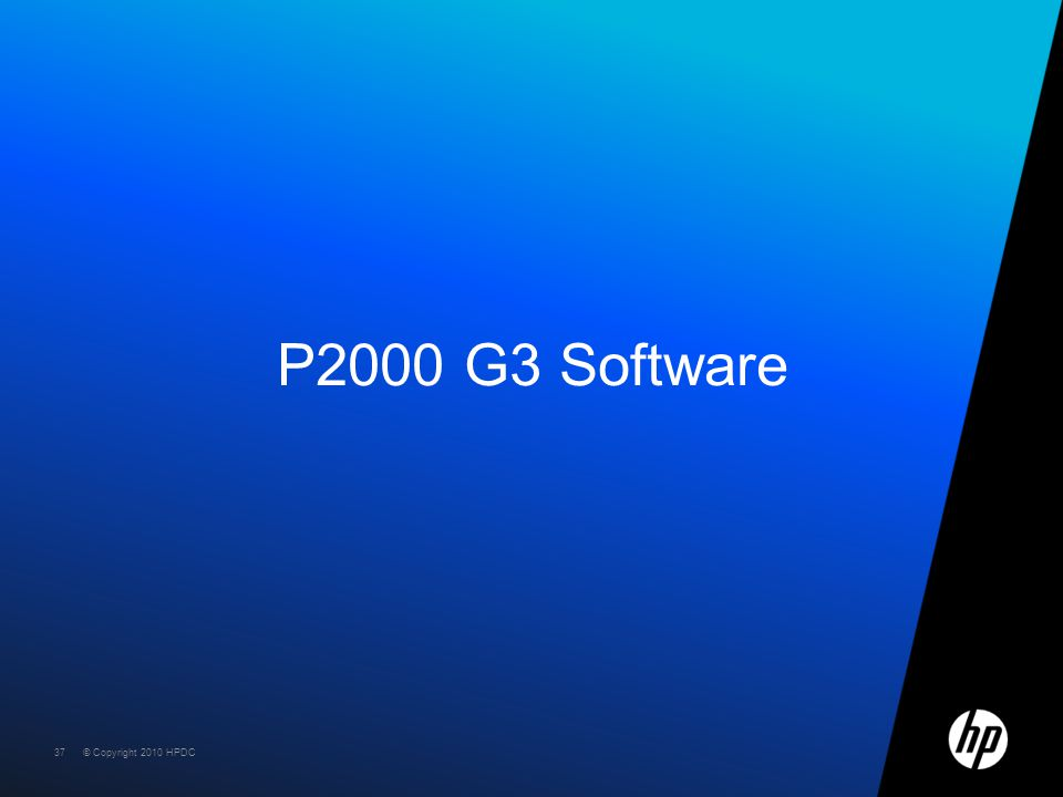 P2000 G3 Software