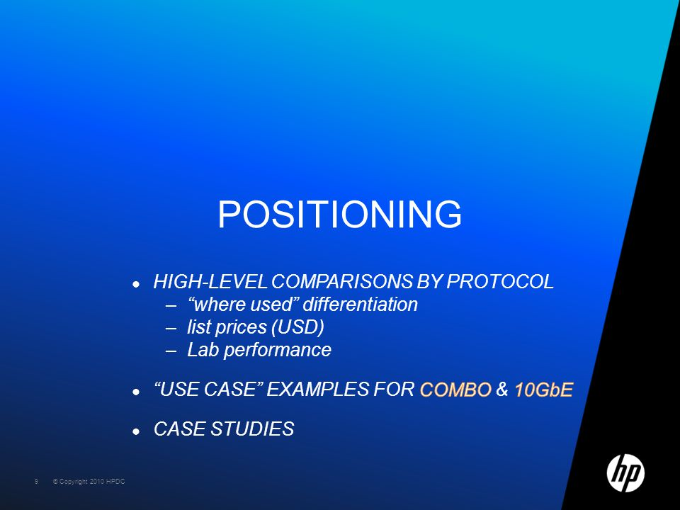 Positioning high-level comparisons by protocol