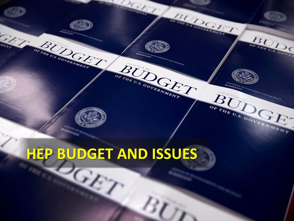 HEP Budget AND ISSUES