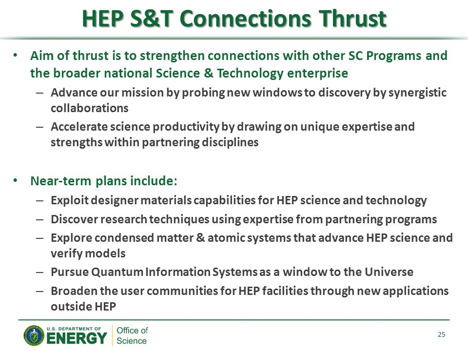 HEP S&T Connections Thrust