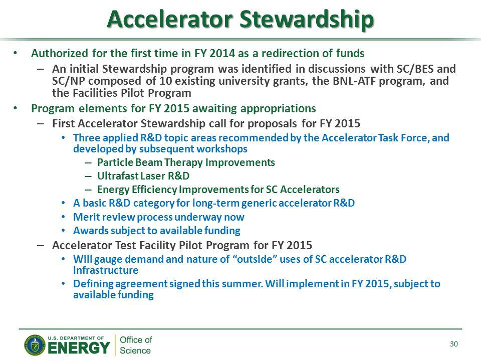 Accelerator Stewardship