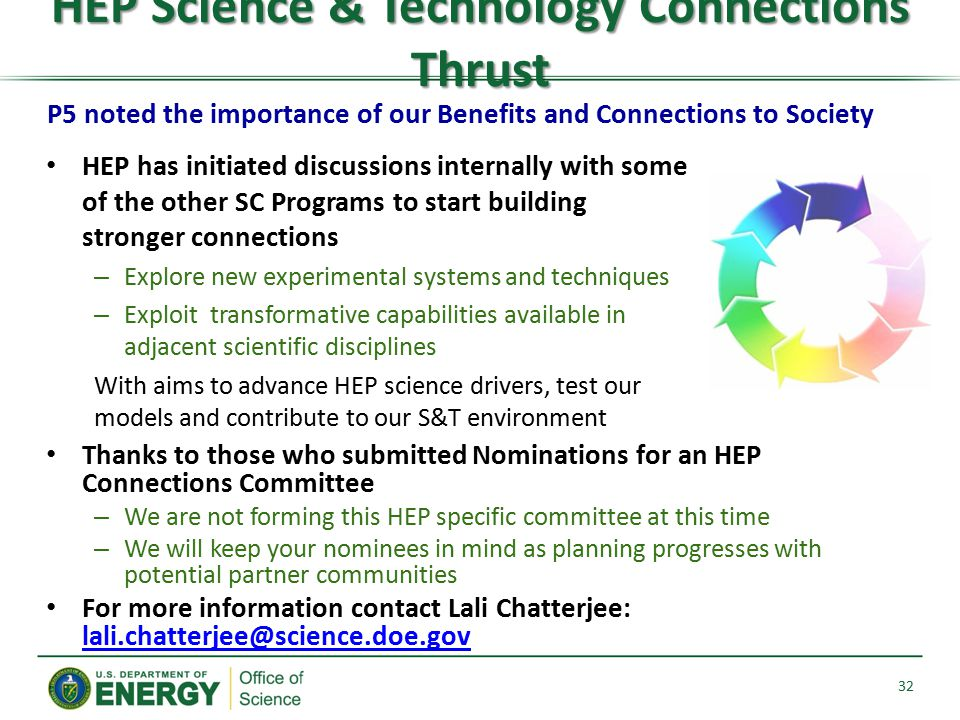 HEP Science & Technology Connections Thrust