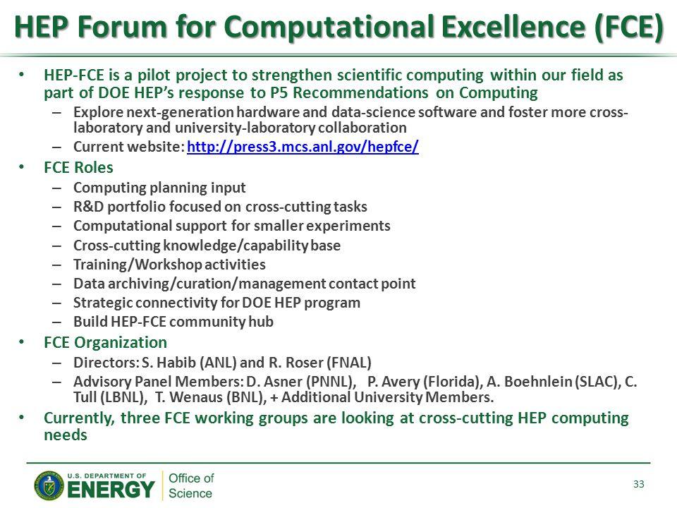 HEP Forum for Computational Excellence (FCE)