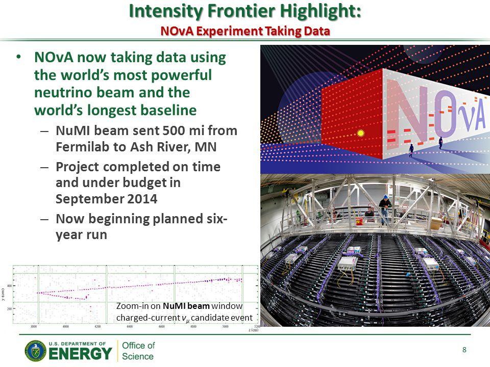 Intensity Frontier Highlight: NOvA Experiment Taking Data