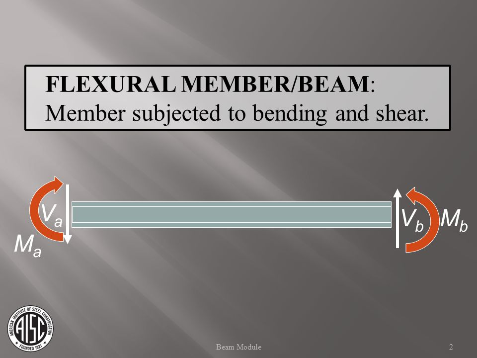 FLEXURAL MEMBER/BEAM: Member subjected to bending and shear.