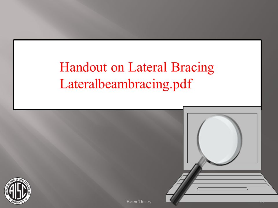 Handout on Lateral Bracing Lateralbeambracing.pdf