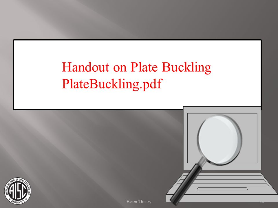 Handout on Plate Buckling PlateBuckling.pdf