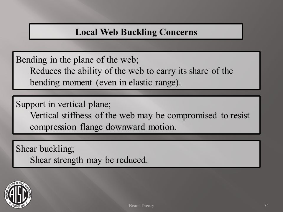 Local Web Buckling Concerns