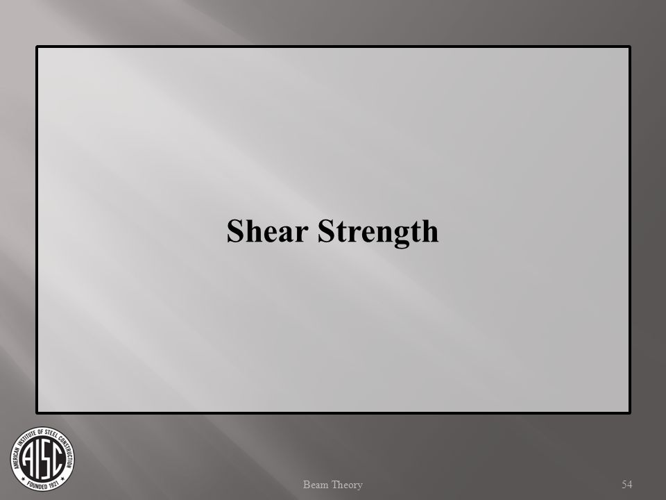 Shear Strength Beam Theory