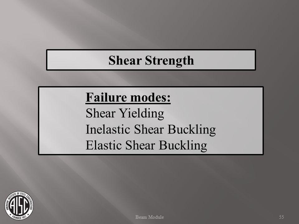 Inelastic Shear Buckling Elastic Shear Buckling
