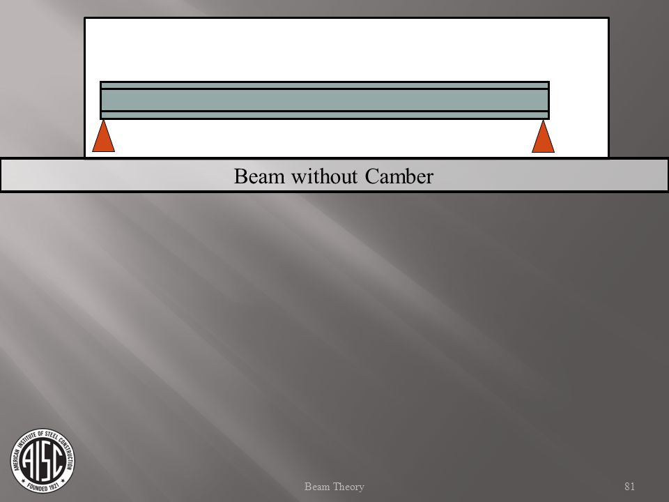 Beam without Camber Beam Theory 81 81