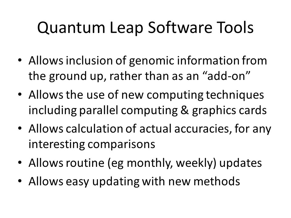 Quantum Leap Software Tools