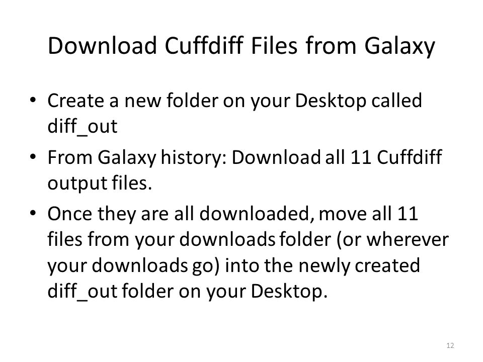 Download Cuffdiff Files from Galaxy