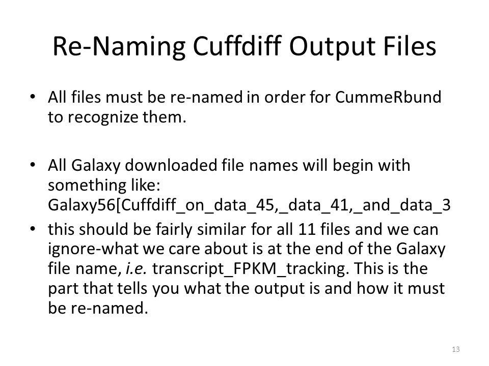 Re-Naming Cuffdiff Output Files