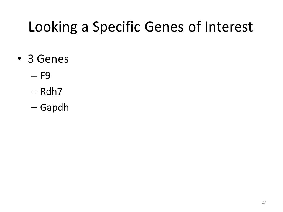 Looking a Specific Genes of Interest