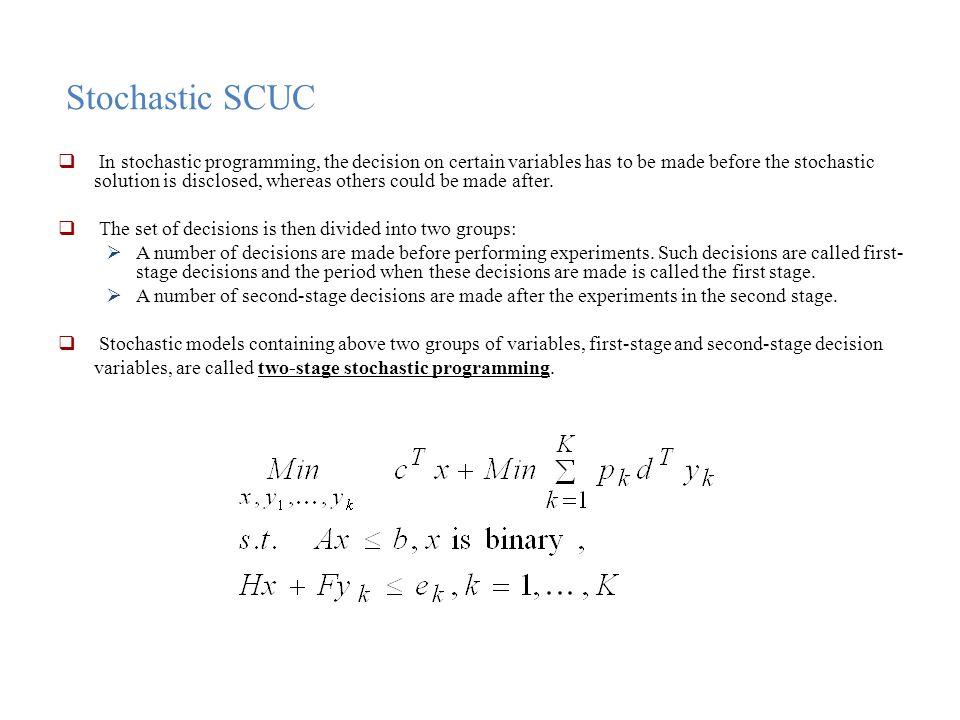 Stochastic SCUC