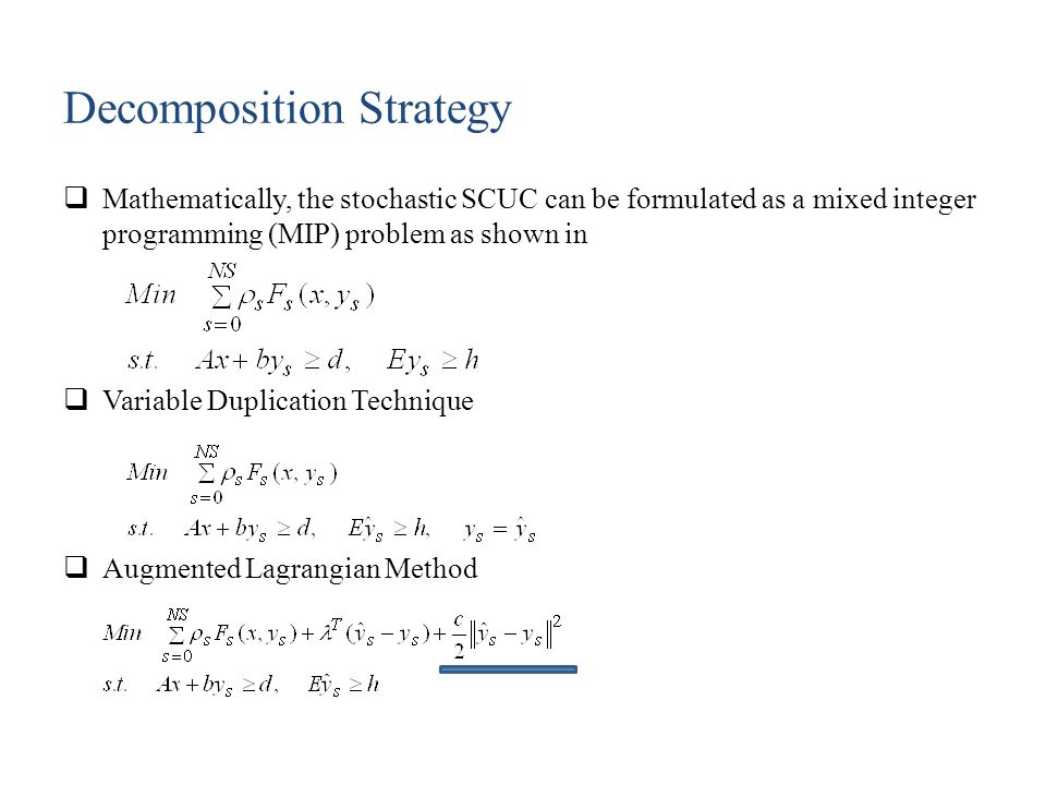 Decomposition Strategy