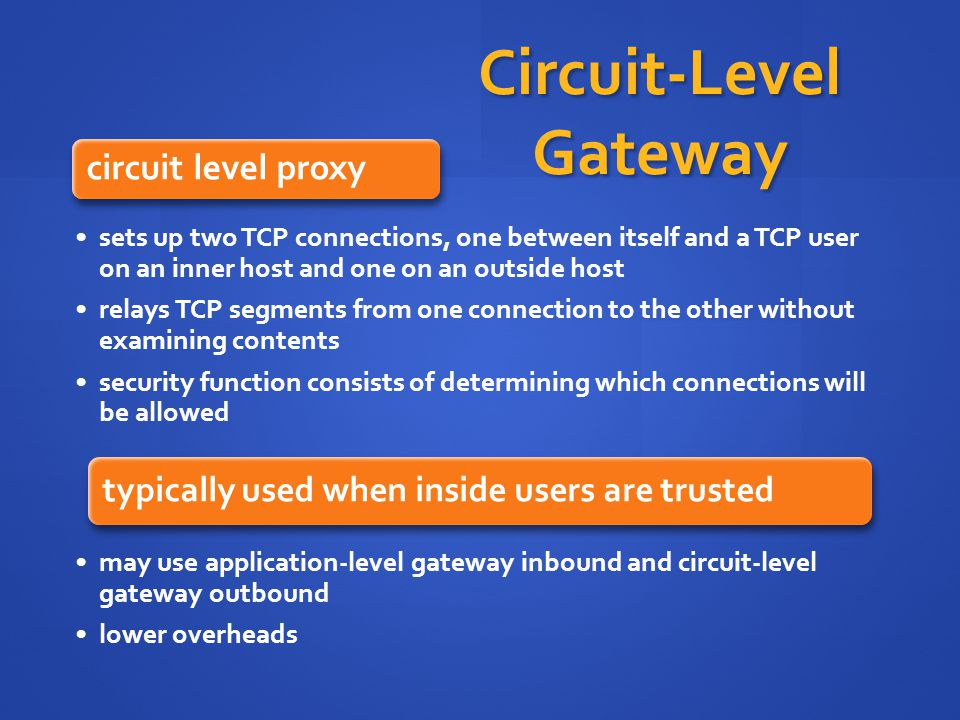 Circuit-Level Gateway
