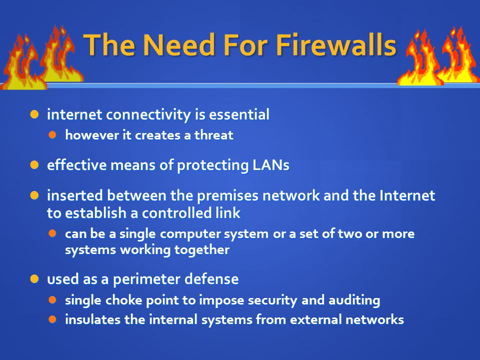 The Need For Firewalls internet connectivity is essential
