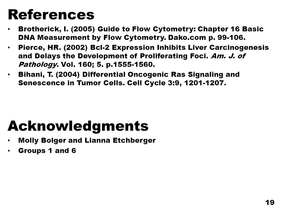 References Acknowledgments