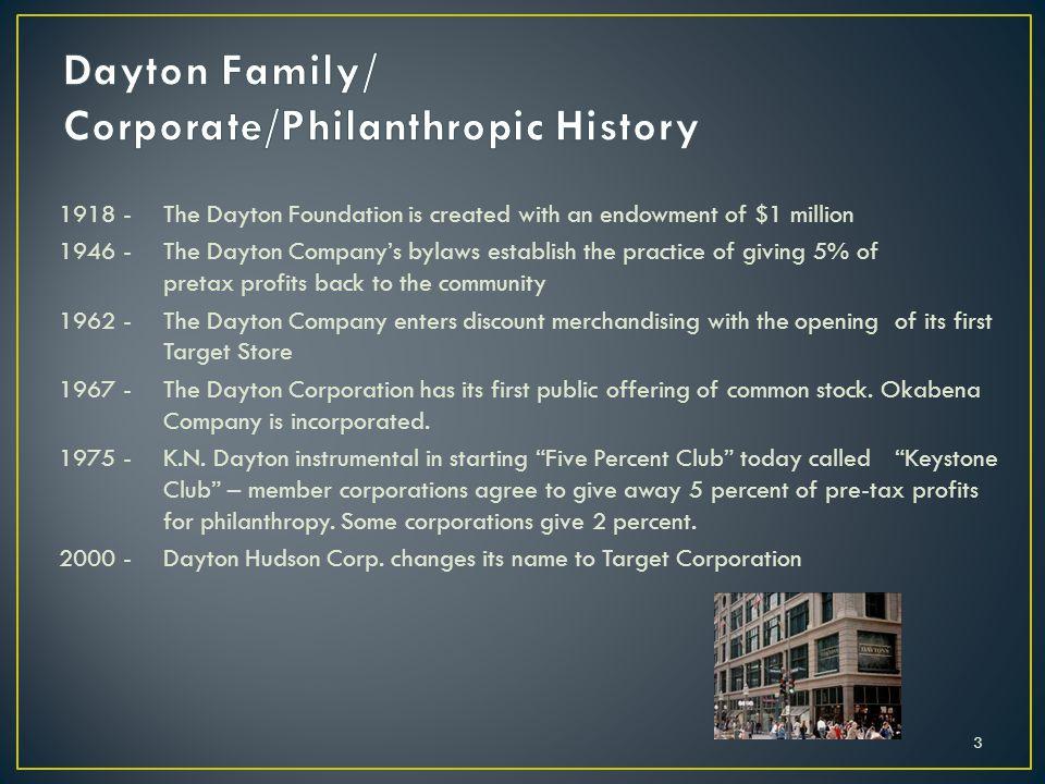 Dayton Family/ Corporate/Philanthropic History