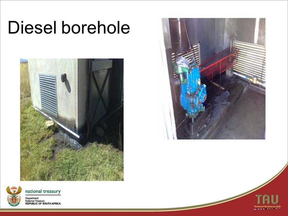 Diesel borehole